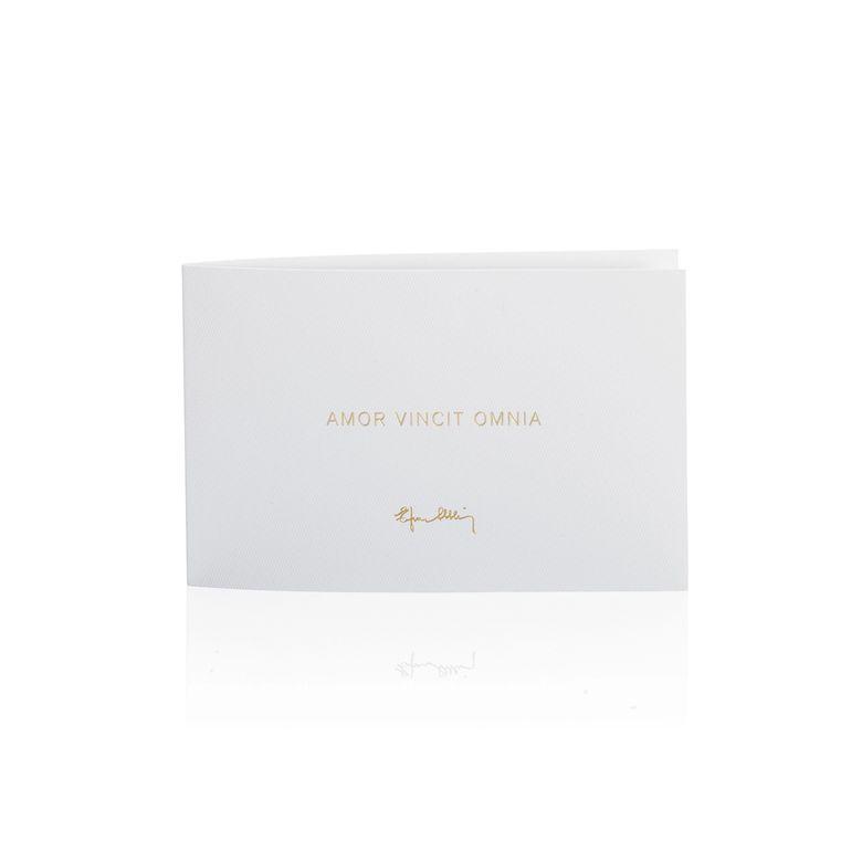 GREETING CARD – AMOR VINCIT OMNIA.