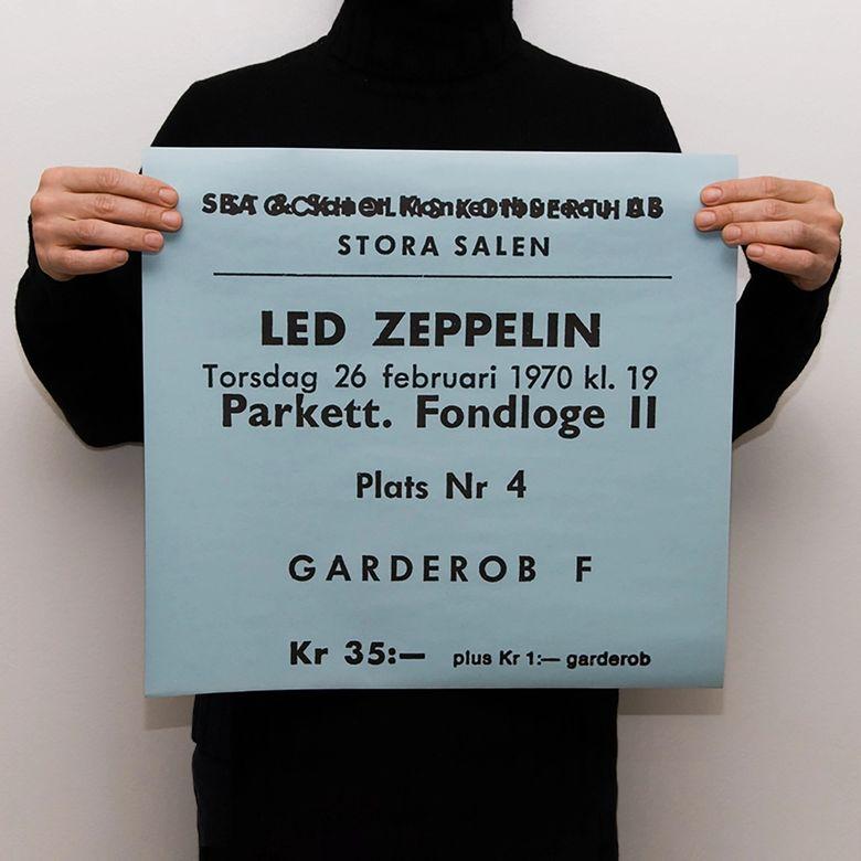 TICKET - LED ZEPPELIN 1970