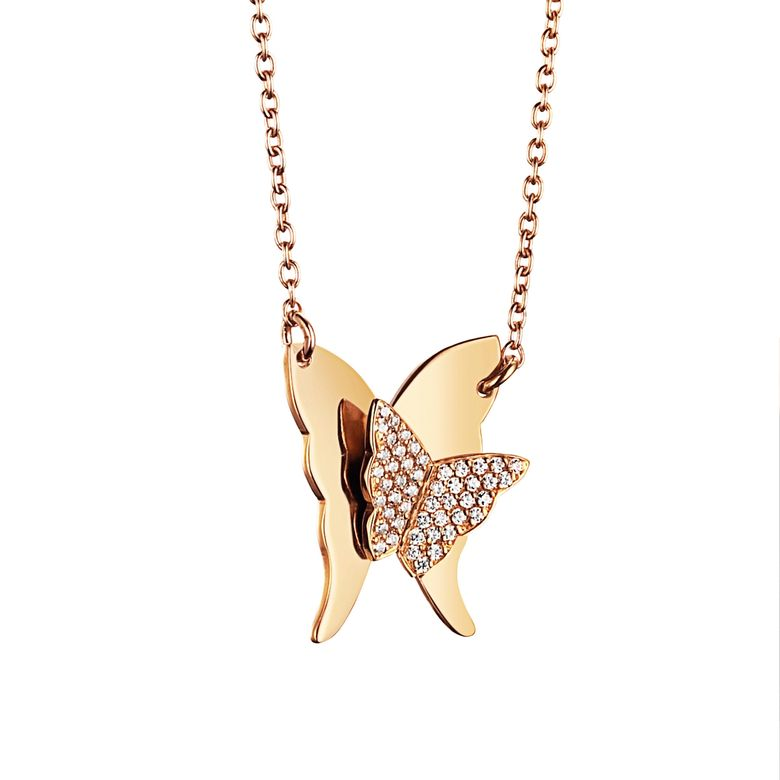 MISS BUTTERFLY & STARS NECKLACE