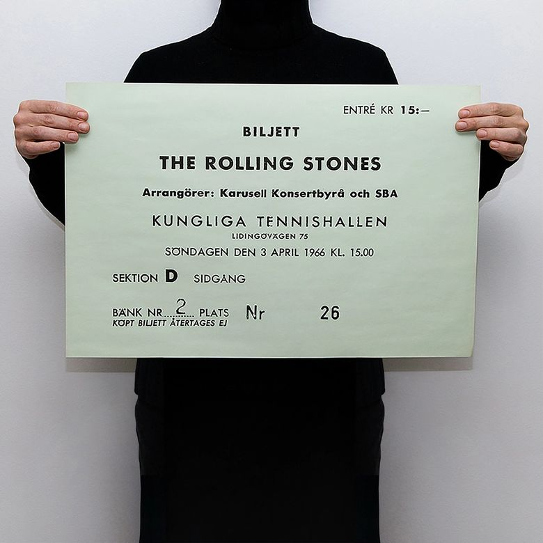 TICKET - THE ROLLING STONES