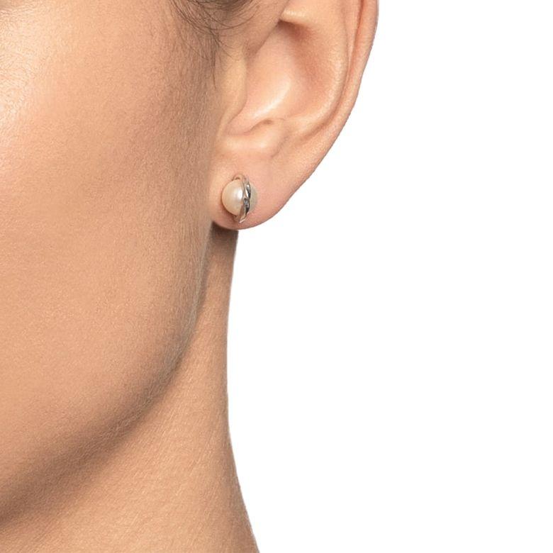 TWISTED ORBIT EAR - PEARL