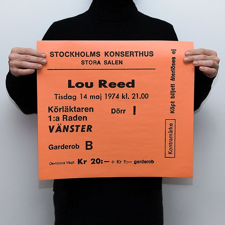 TICKET - LOU REED