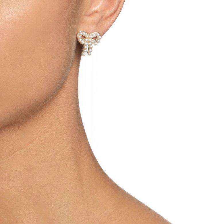 MINI PEARLS BOW EAR