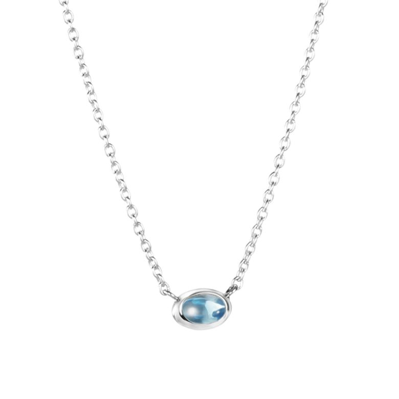 LOVE BEAD NECKLACE SILVER - TOPAZ