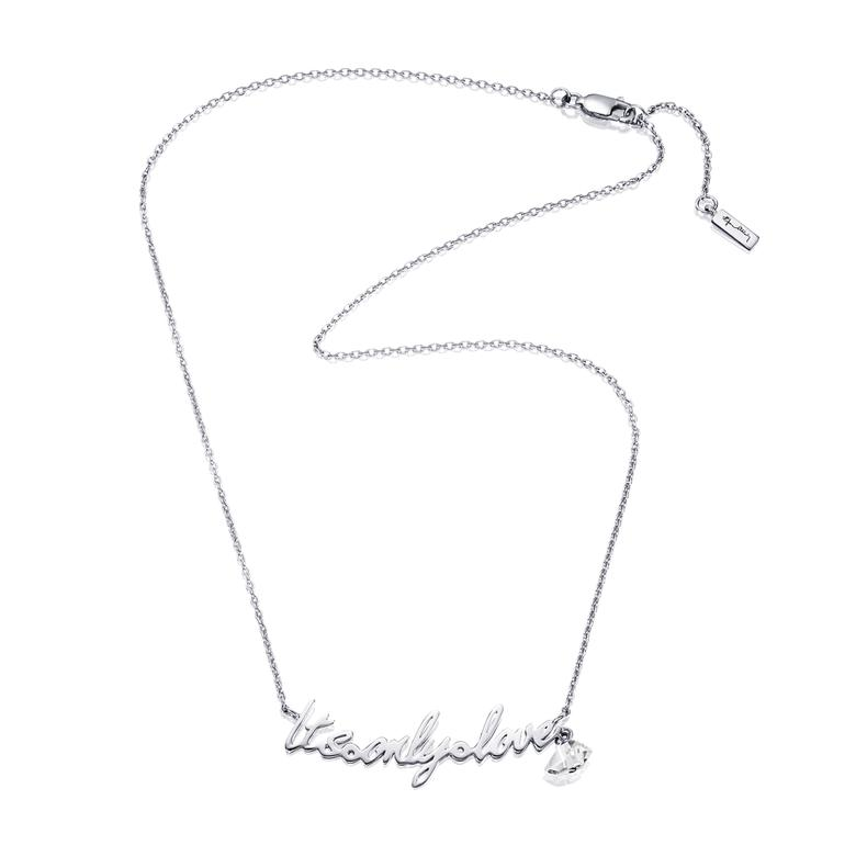 IT'S ONLY LOVE NECKLACE.