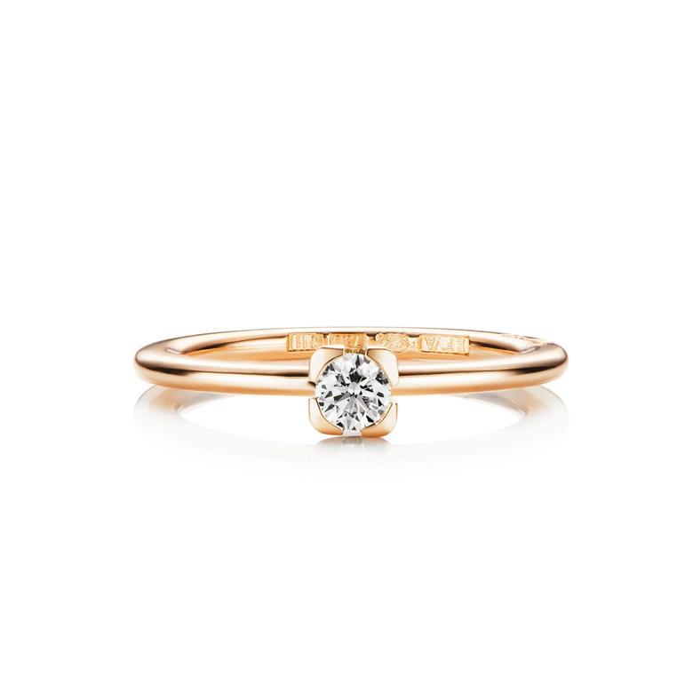 LOVE BEAD WEDDING RING 0.19 CT
