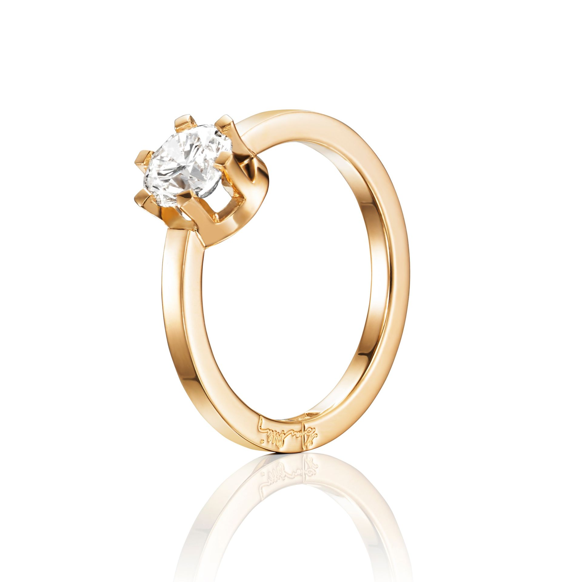 Efva Attling -Crown Wedding Ring 1.0 Ct Ringar Guld