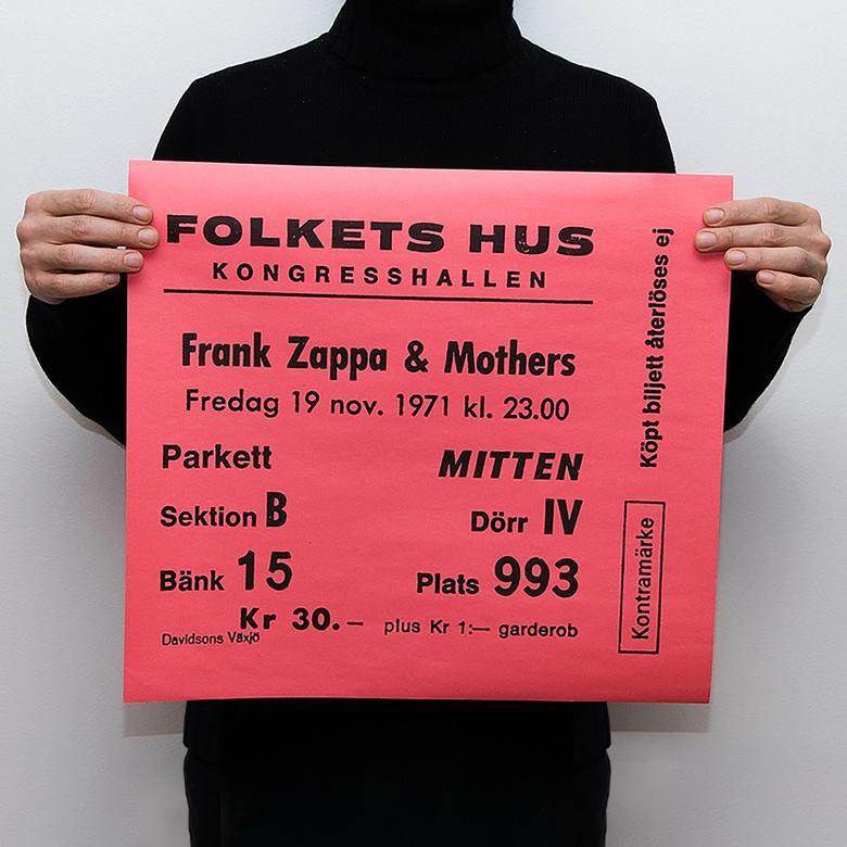 TICKET - FRANK ZAPPA & MOTHERS