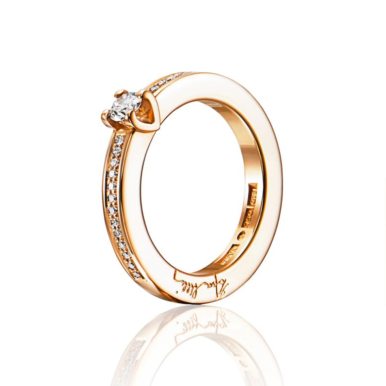HEART TO HEART RING 0.19 CT