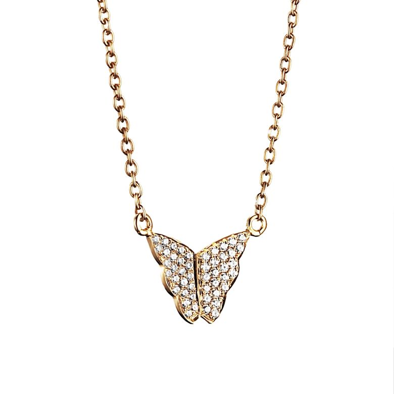 LITTLE MISS BUTTERFLY & STARS NECKLACE