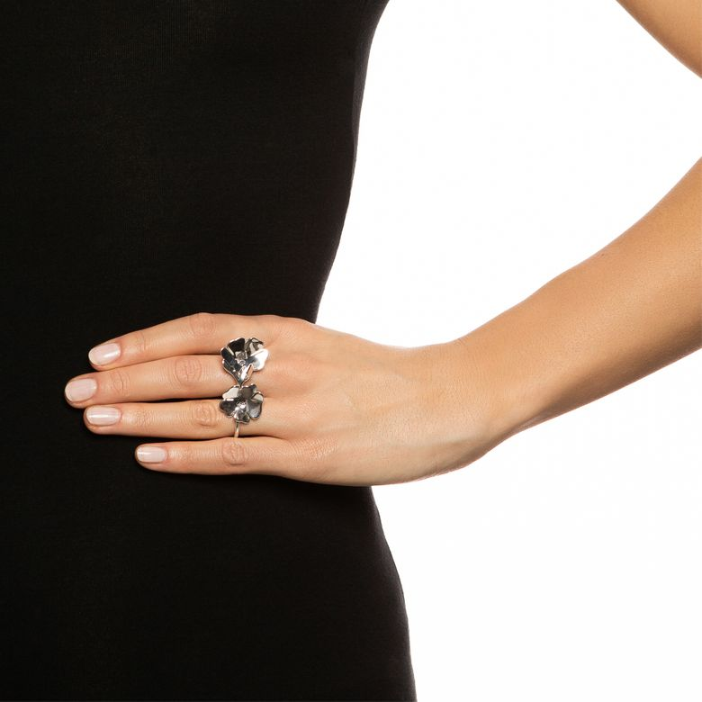 VIOLET DOUBLE RING.