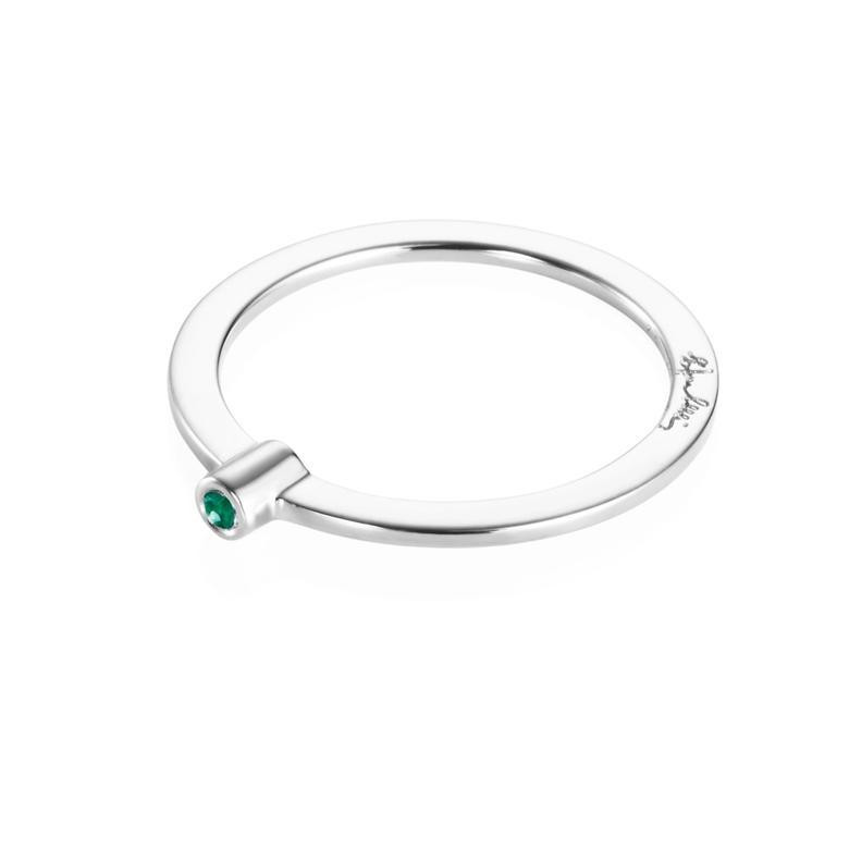 MICRO BLINK RING - GREEN EMERALD