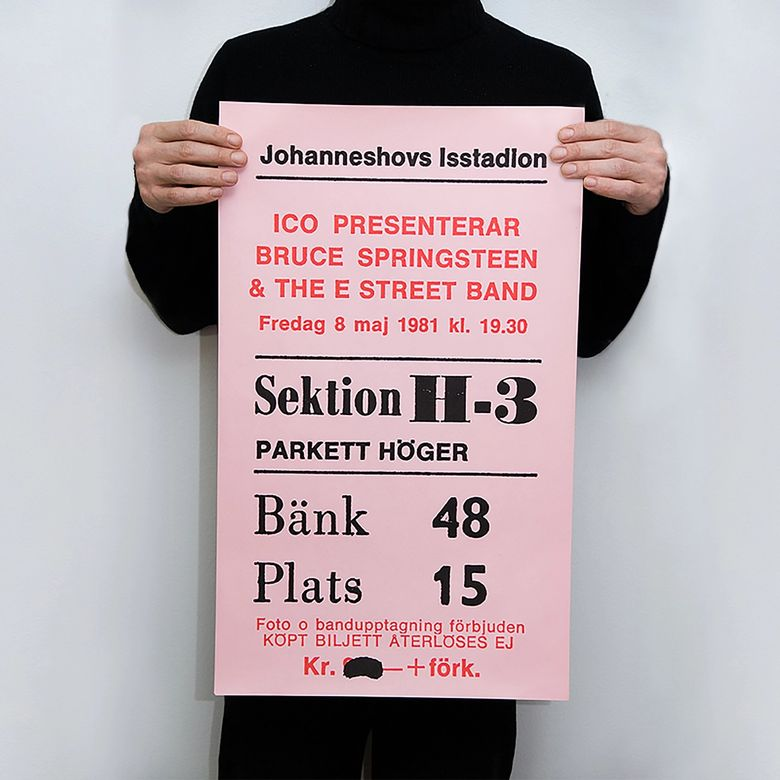 TICKET - BRUCE SPRINGSTEEN 1981-05-08