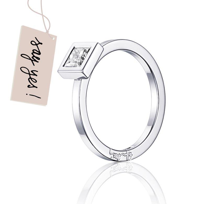 PRINCESS WEDDING THIN RING 0.40 CT