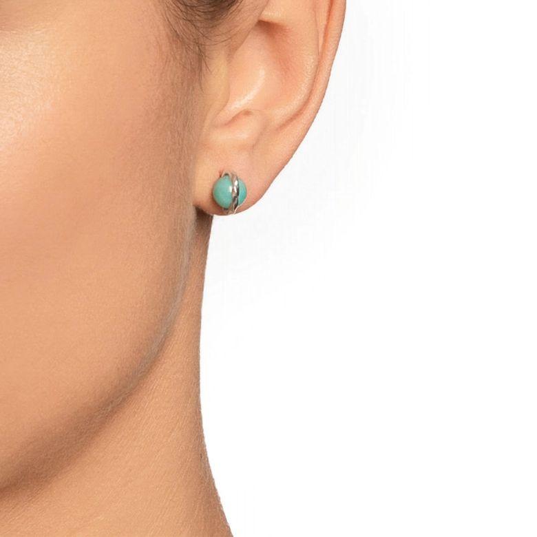 TWISTED ORBIT EAR - AMAZONITE