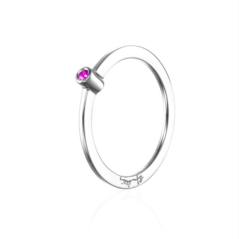 MICRO BLINK RING - PINK SAPPHIRE
