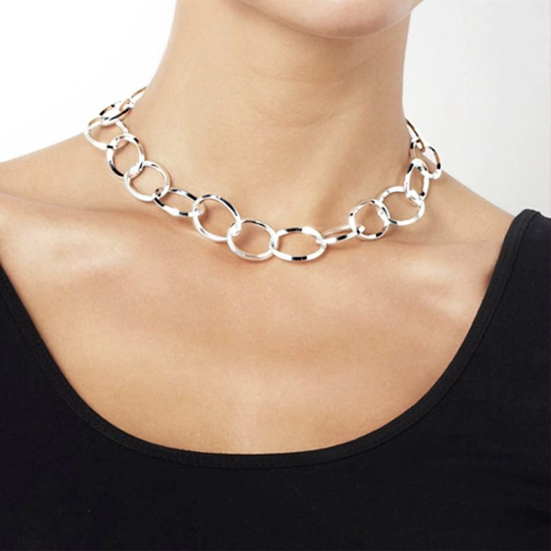 CHAIN REACTION NECKLACE.