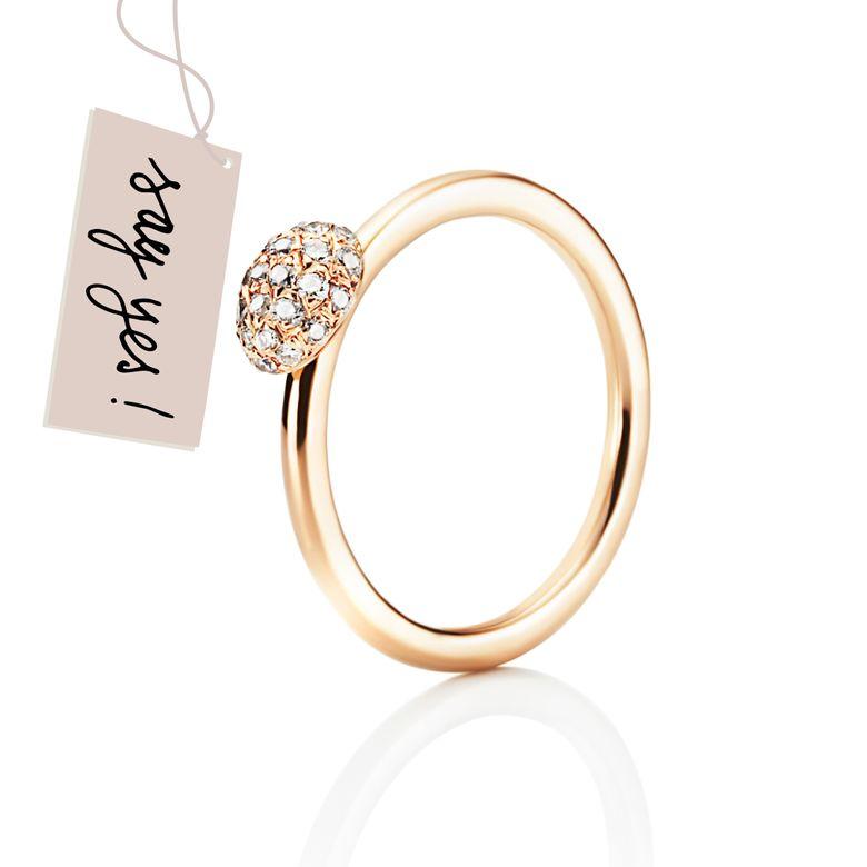 LOVE BEAD RING - DIAMONDS
