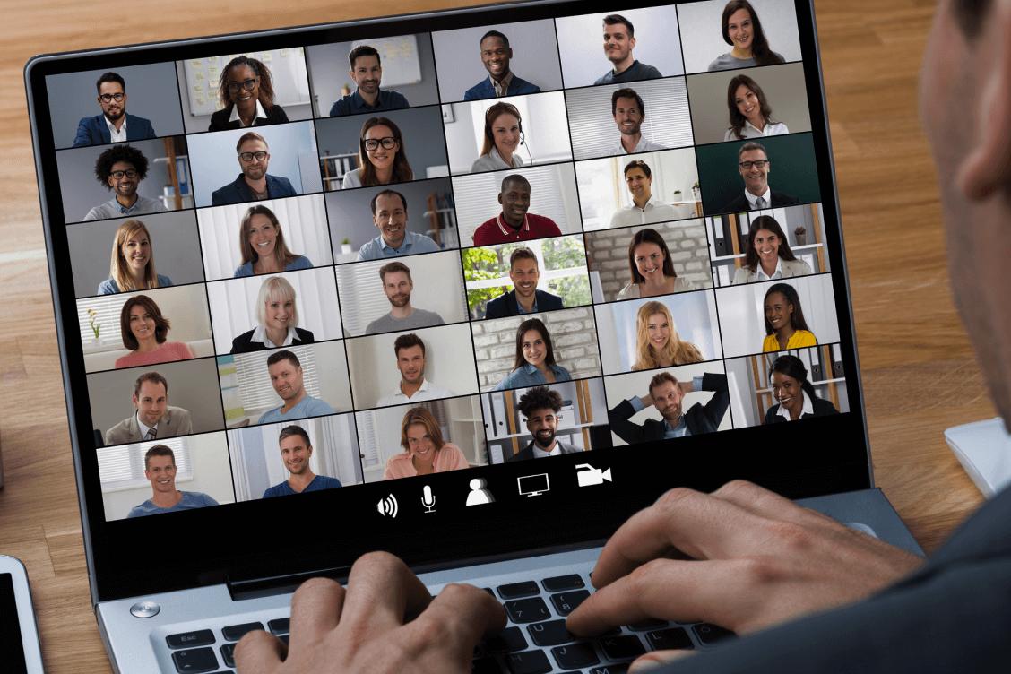 Virtual call on a screen