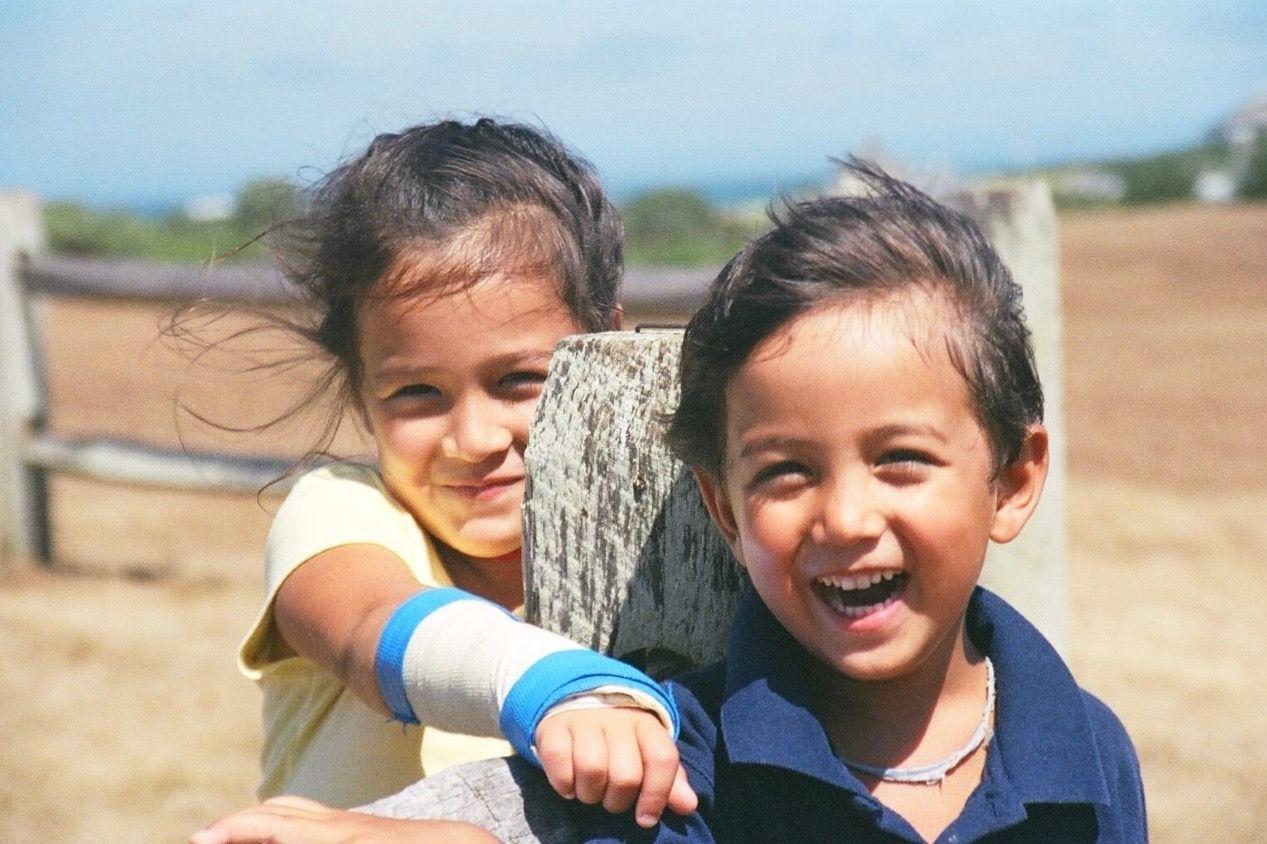 Ethan Hellman and Antonia Hellman as children