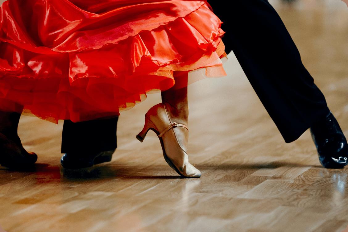 Man and woman feet dancing