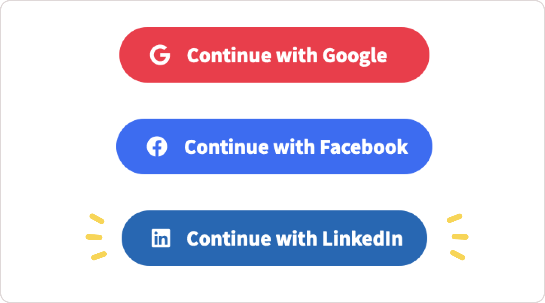 Linkedin login for Toucan Events