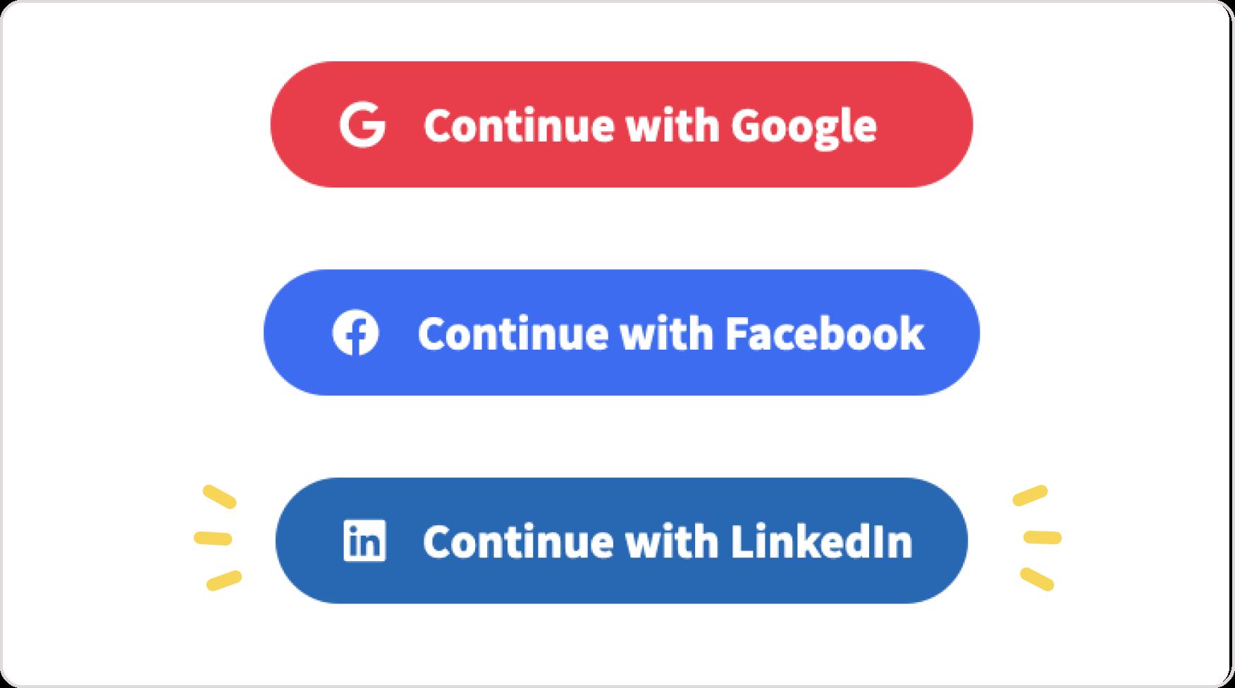 Linkedin Login Toucan Feature