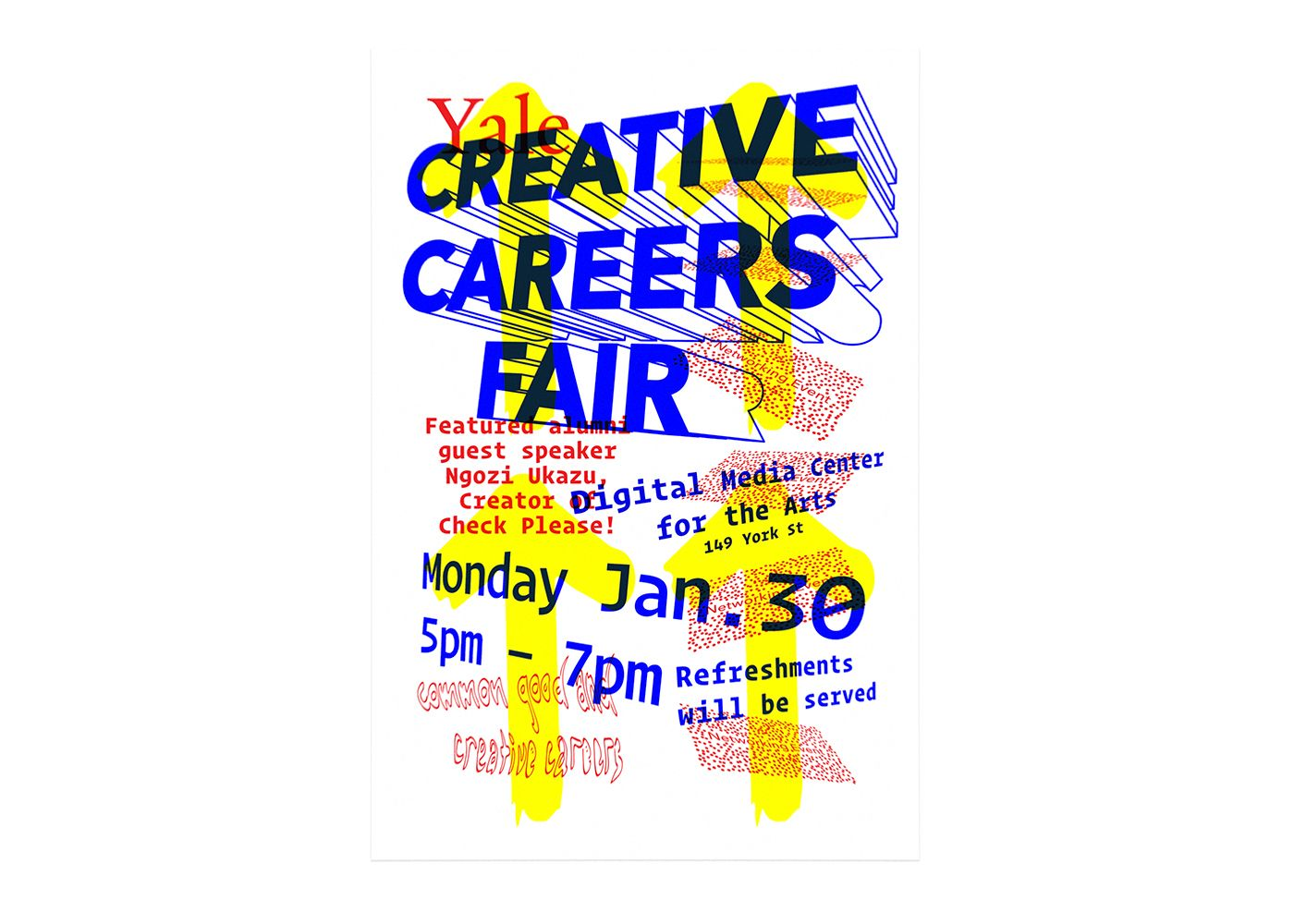 Yale Creative Careers Fair poster by Isaac Morrier
