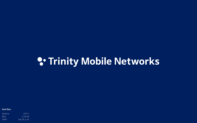 Trinity Mobile Networks Logo on navy background