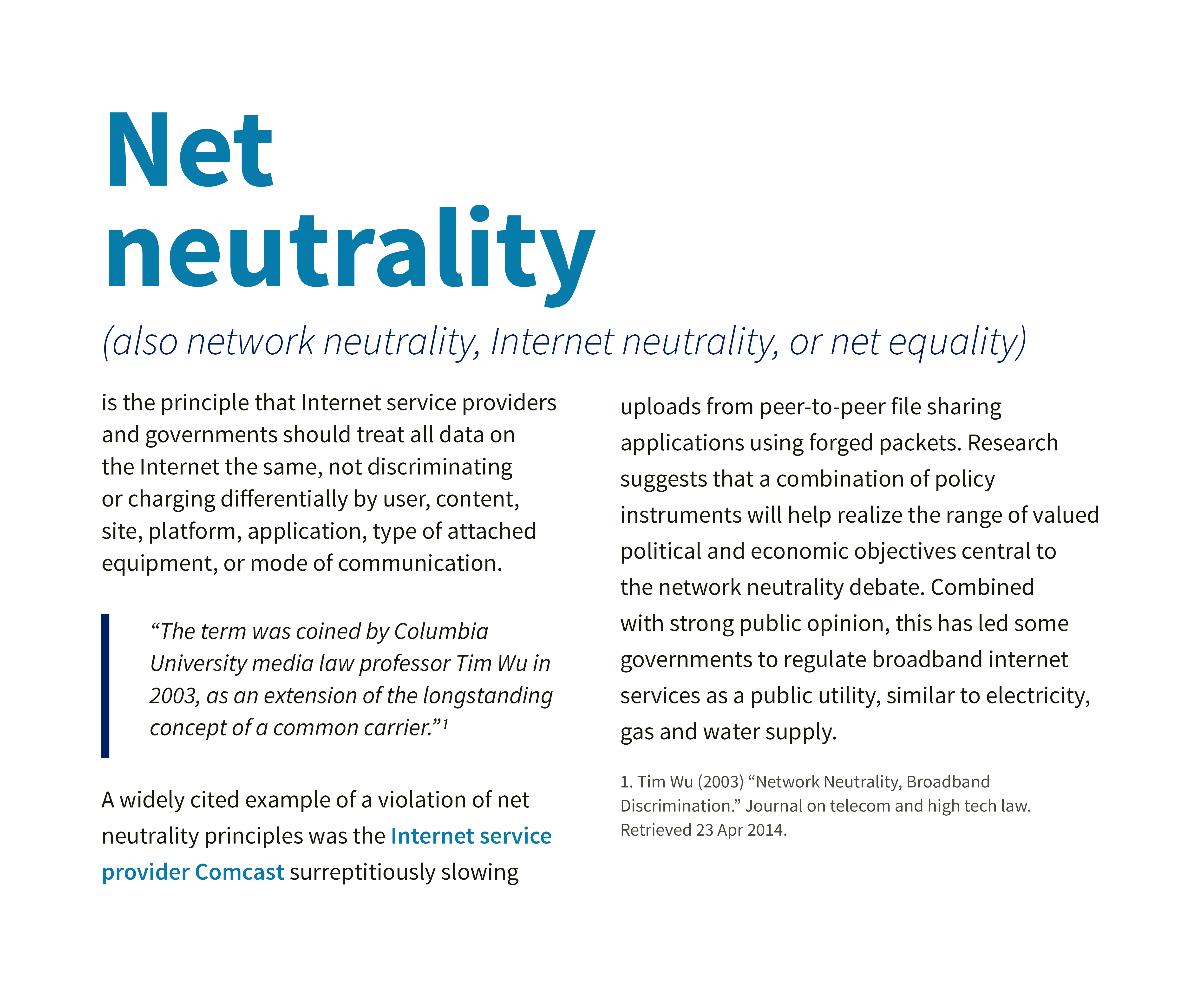 Example of typography layout with Source Sans and Trinity Mobile Networks blue color palette