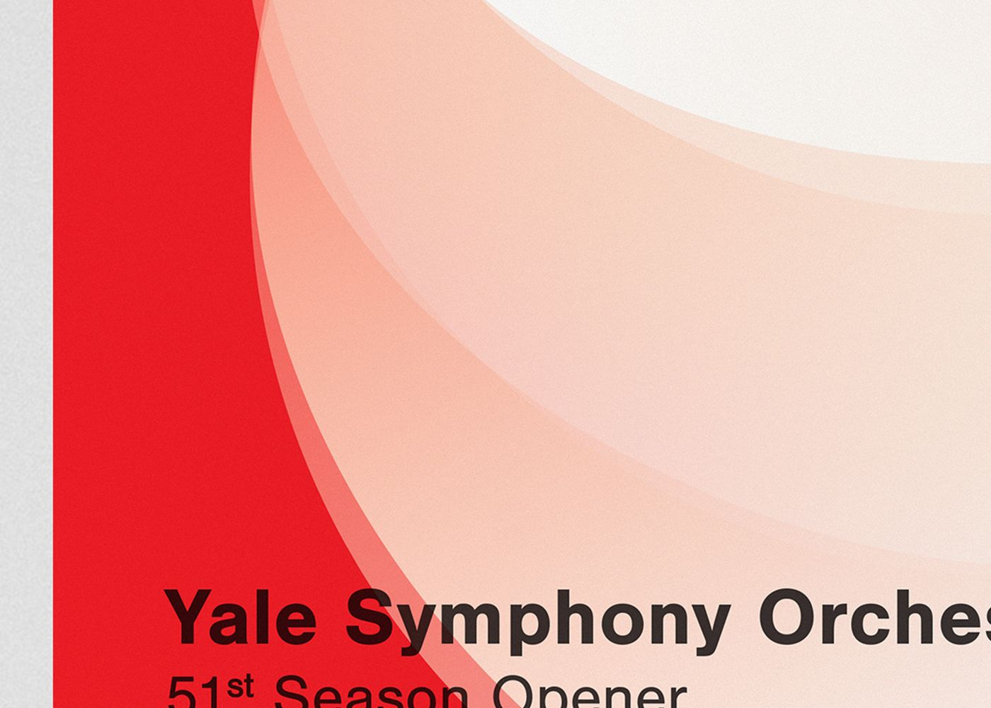 Detail of the poster for the Opening Concert of the 51st Season