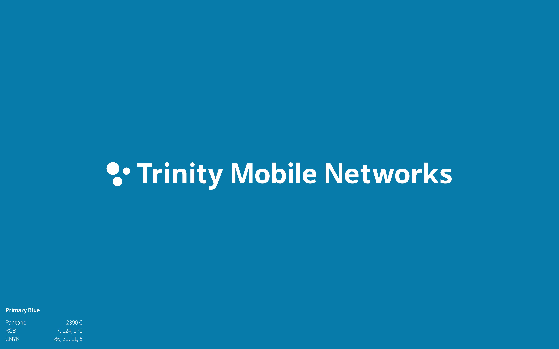 Trinity Mobile Networks Logo on blue background
