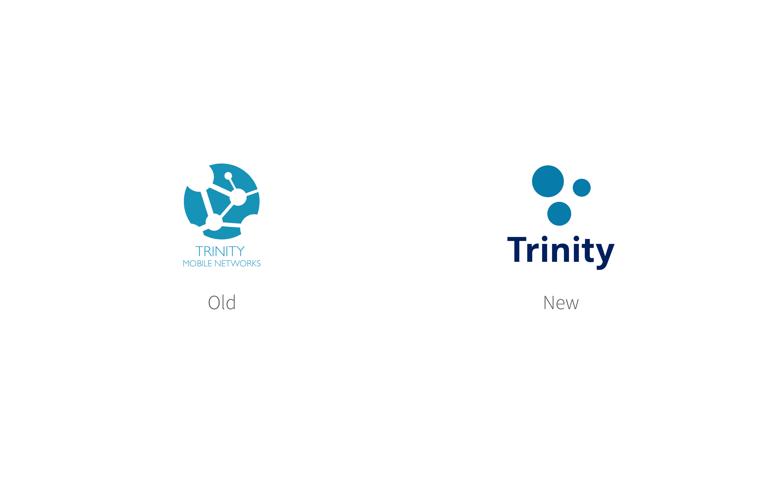 Old and new Trinity logos