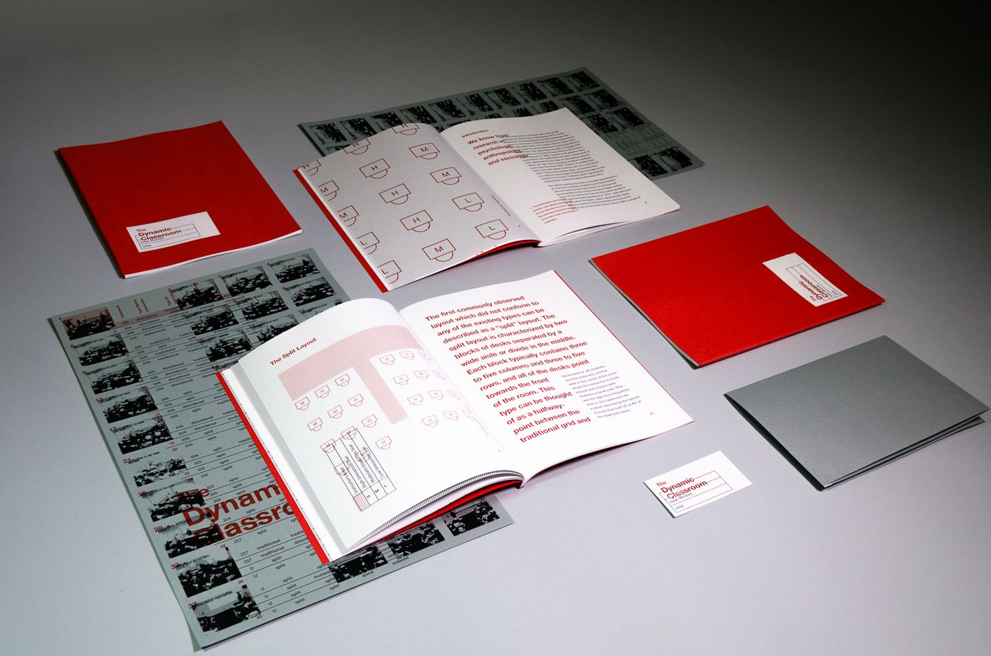 Layout of multiple books and posters