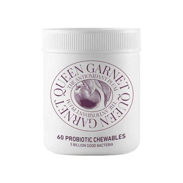 100g tub of Queen Garnet Probiotic Chewables