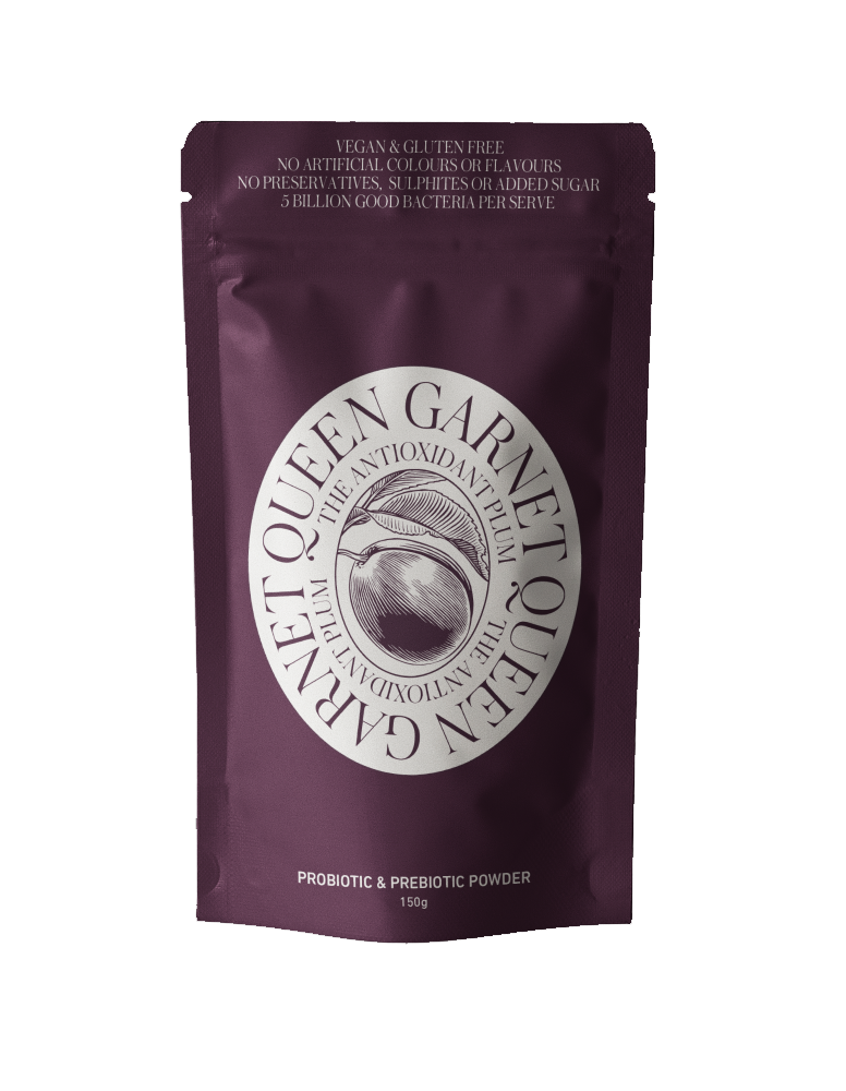 150g sachet of Queen Garnet Probiotic and Prebiotic Powder