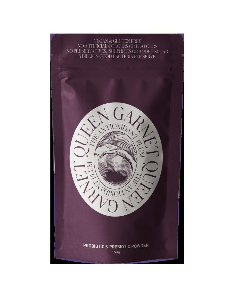 150g sachet of Queen Garnet Probiotic and Prebiotic Powder