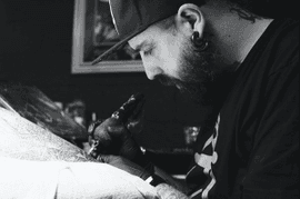 jordy doing a tattoo