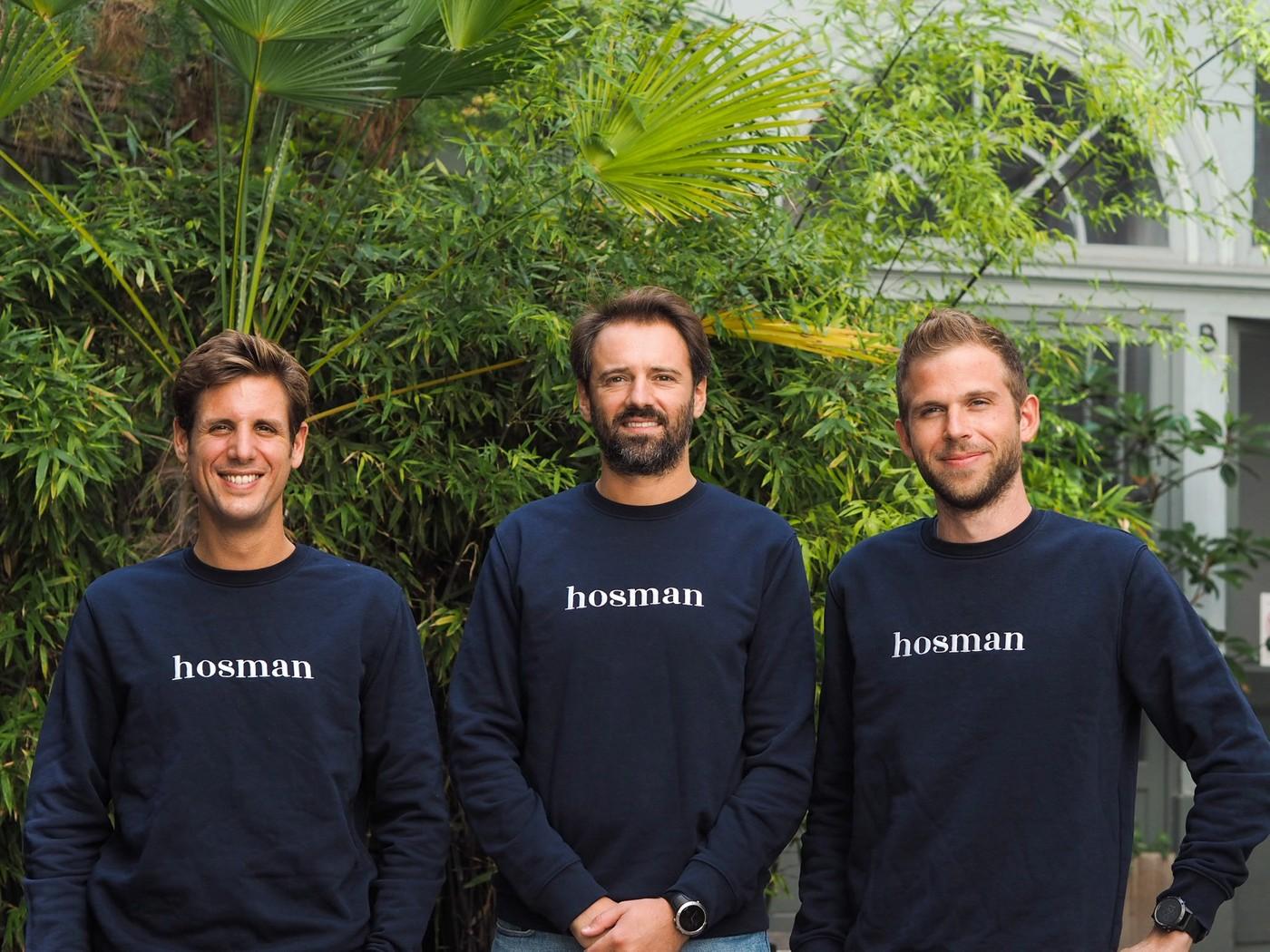 Les trois fondateurs de Hosman : Benjamin Bavuz, Paul-Henri Chopin et Stanislas de Dinechin