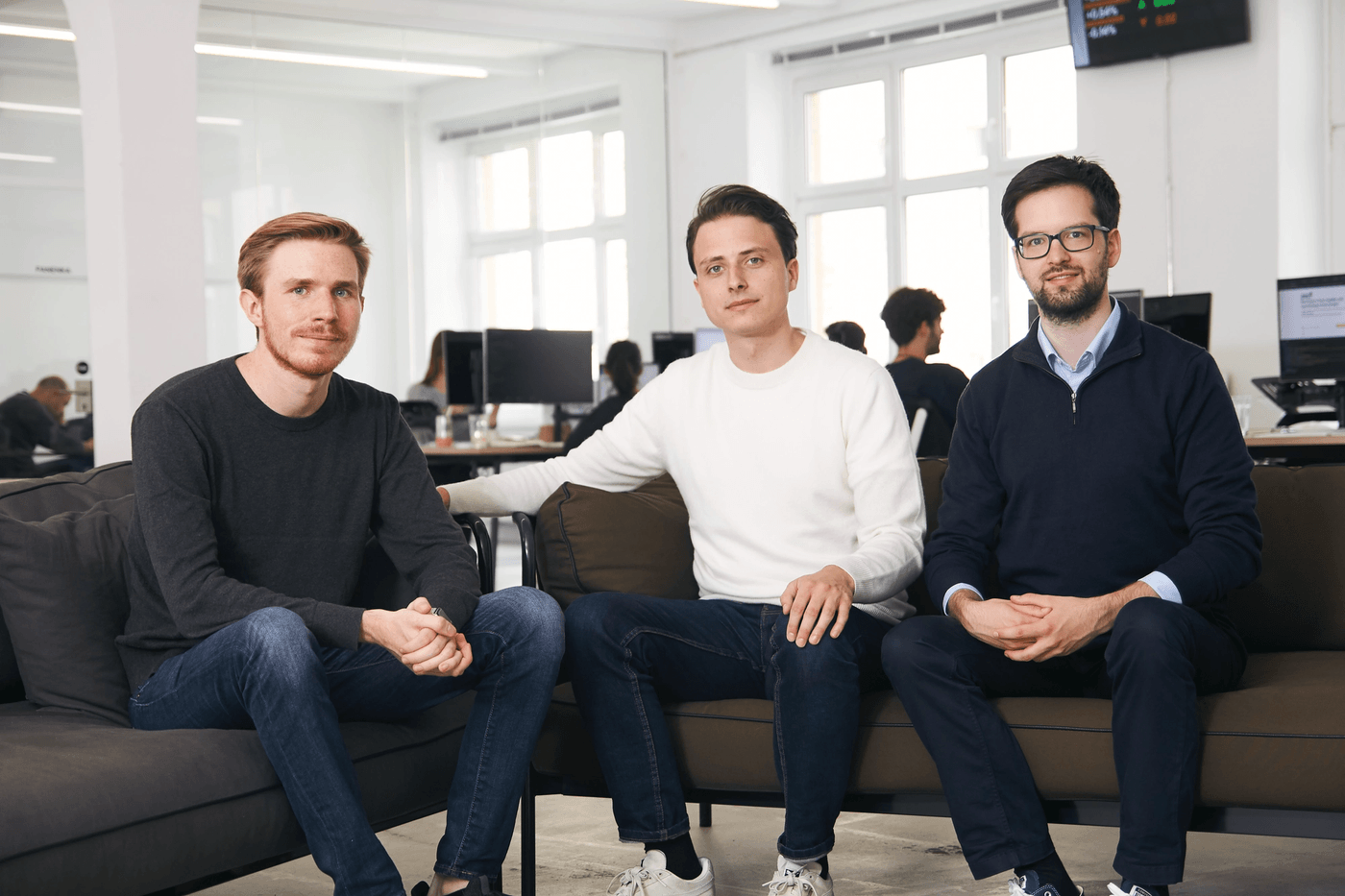 Christian Hecker, Thomas Pischke et Marco Cancellieri