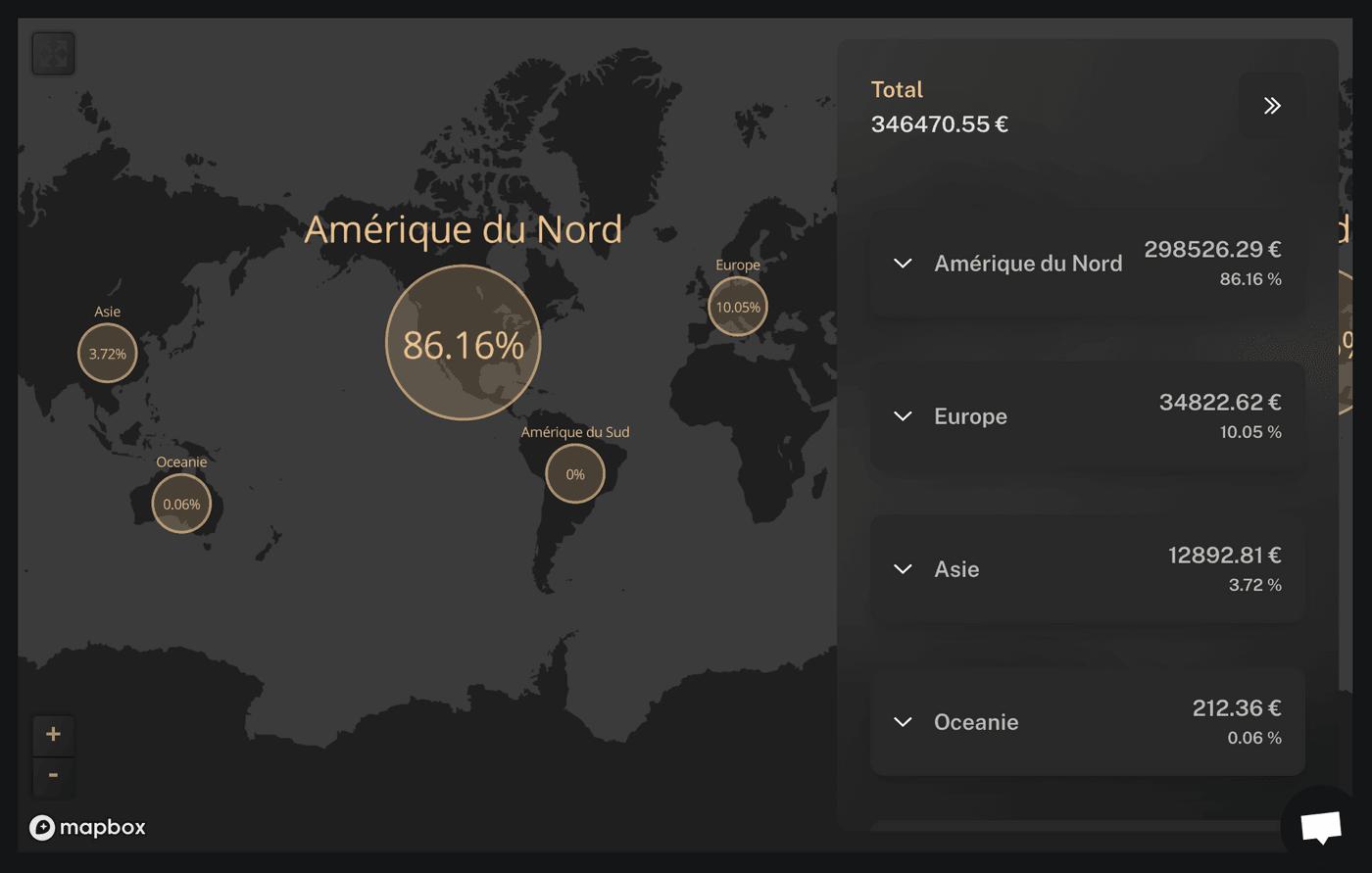 Capture d'écran exposition géographique