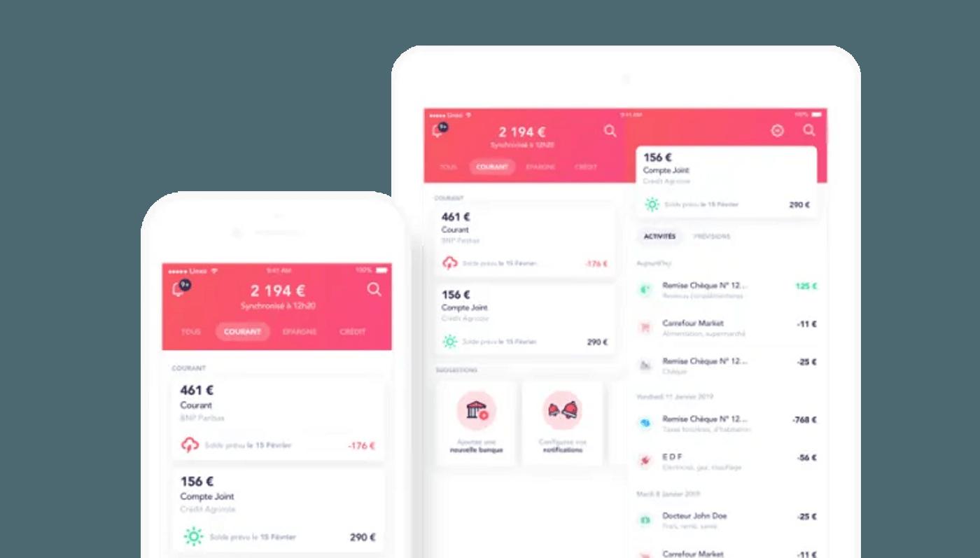 Application mobile budget Linxo