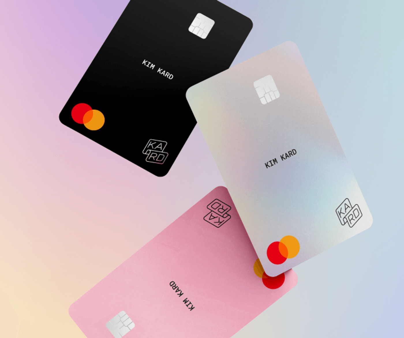 Mockup cartes de paiement Kard