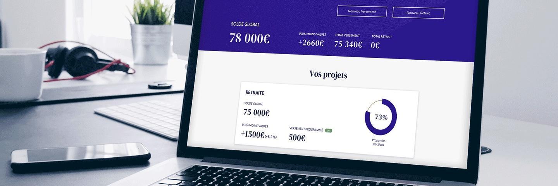 Mockup interface web de Nalo