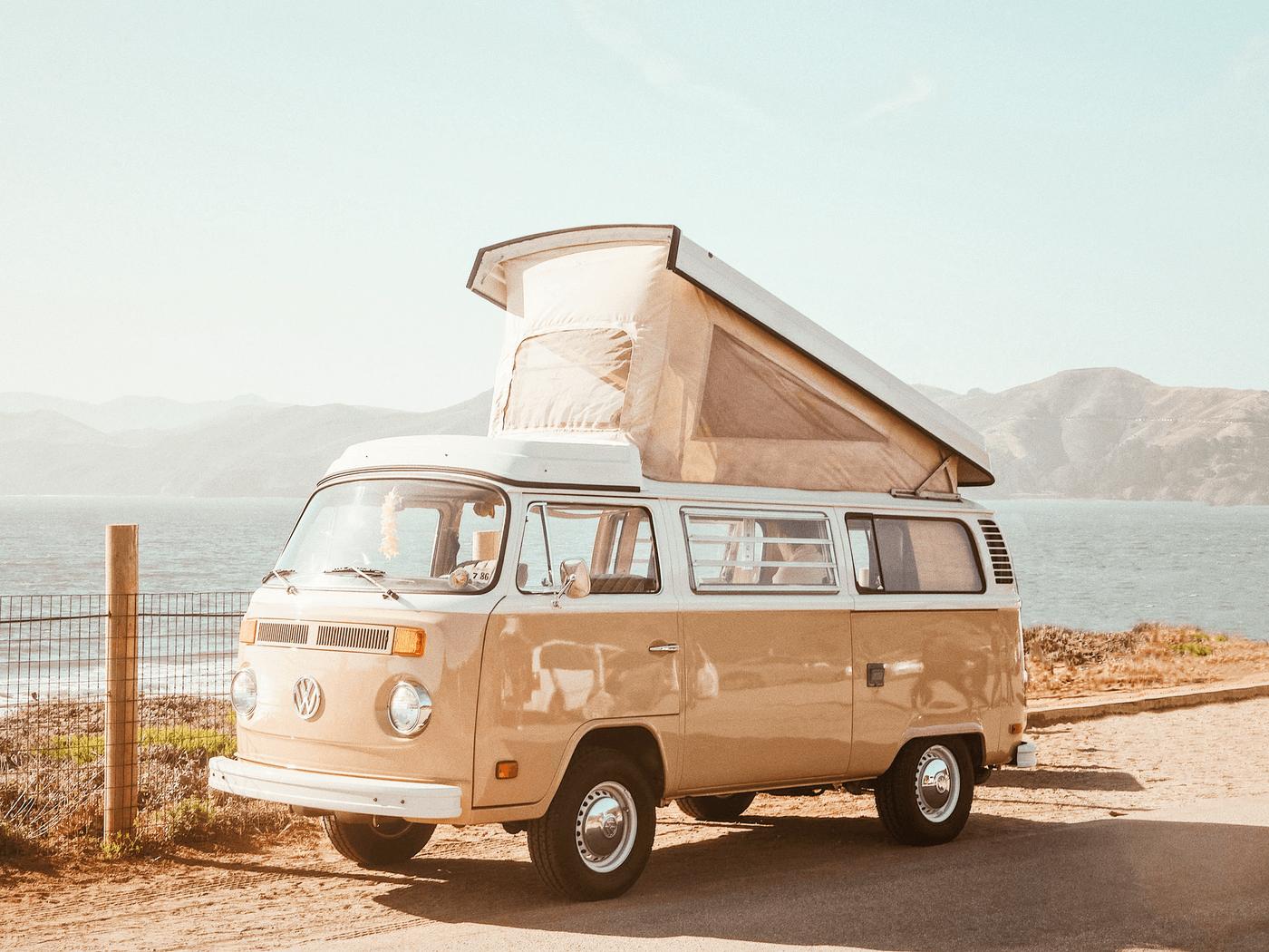 Un van pendant un voyage