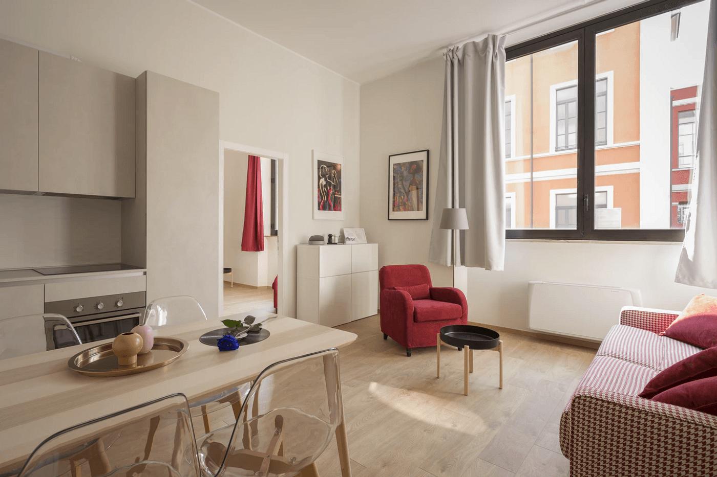 L'intérieur d'un appartement loué meublé