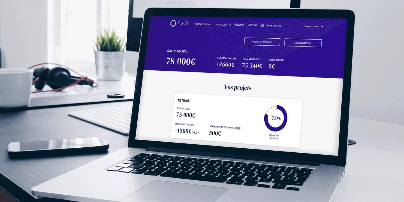 Avis Nalo interface suivi des investissements