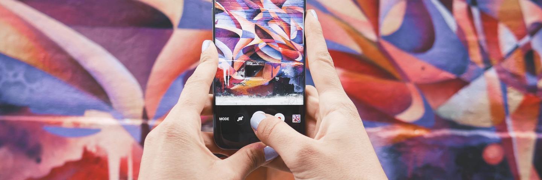 Un téléphone sur Instagram