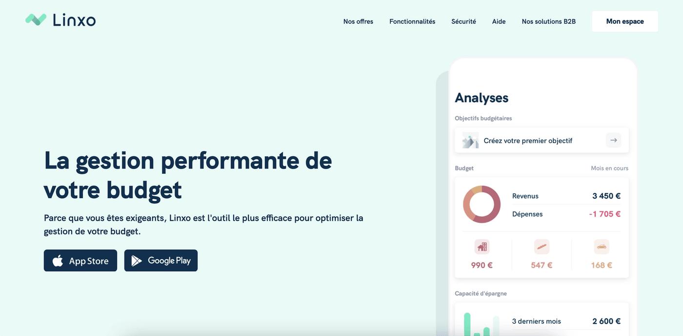 Screenshot avis Linxo site web