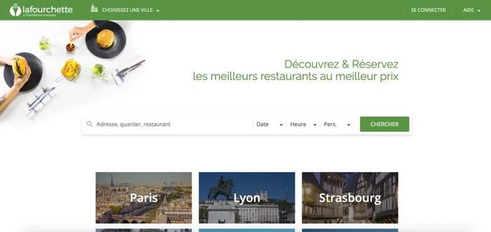 site web de La fourchette